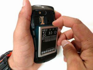 آموزش تصویری تعمیر باتری Samsung Galaxy S Blaze