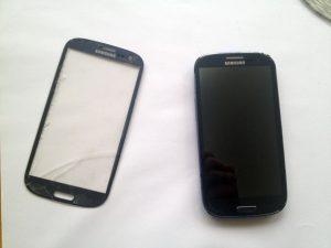 راهنمای گام به گام تعمیر شیشه شکسته جلو Samsung Galaxy S III