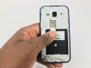 آموزش تصویری تعمیر دوربین جلو Samsung Galaxy J1