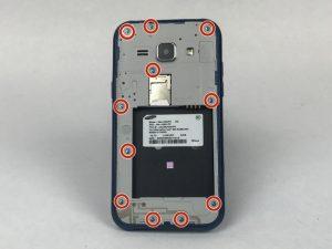 آموزش تصویری تعویض دوربین جلو Samsung Galaxy J1